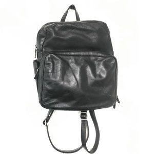Vintage Coleta Black Leather Backpack